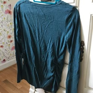 Isabel Maternity by Ingrid & Isabel Tops - TEAL maternity long sleeve